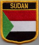 Sudan Embroidered Flag Patch, style 07.